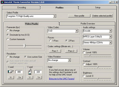 Screenshot of Unlogic Movie Converter